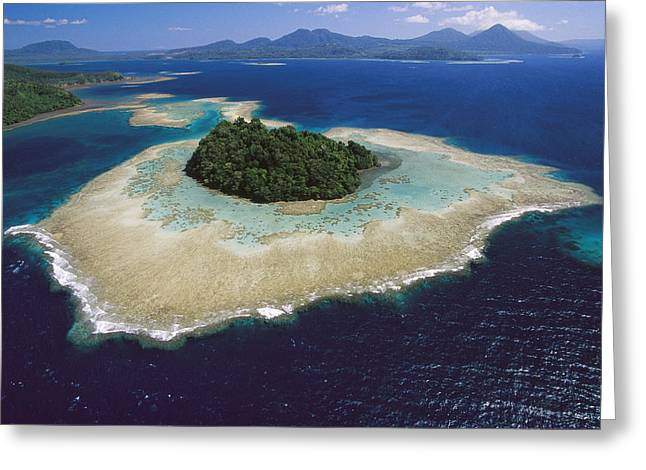 Coral Reefs And Islands Kimbe Bay Greeting Card