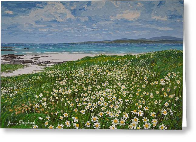 Coral Strand On A Windy Day Connemara Greeting Card