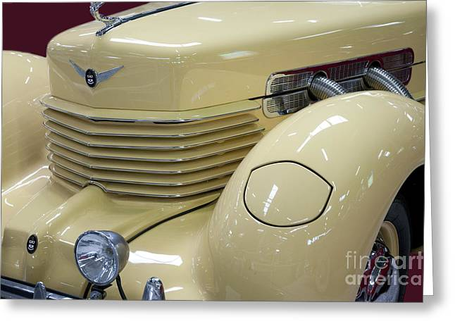 Cord 812 Oldtimer From 1937 Front Greeting Card