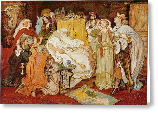 Cordelias Portion, C.1867-75 Greeting Card by Ford Madox Brown