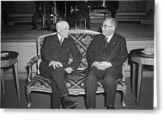 Cordell Hull With Adm. Nomura Greeting Card