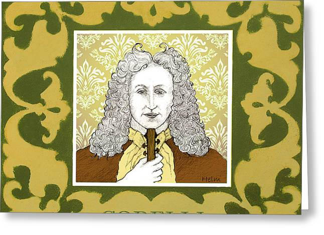Corelli Greeting Card by Paul Helm