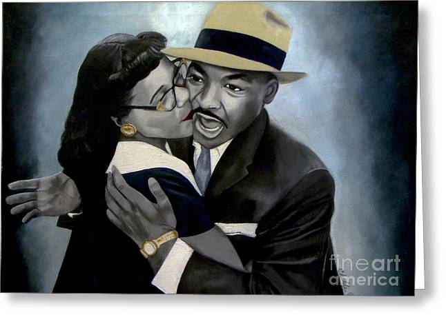 Coretta And Martin Greeting Card
