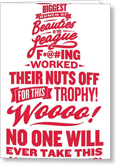 Corey Crawford Cup Speech Greeting Card by The Heckler