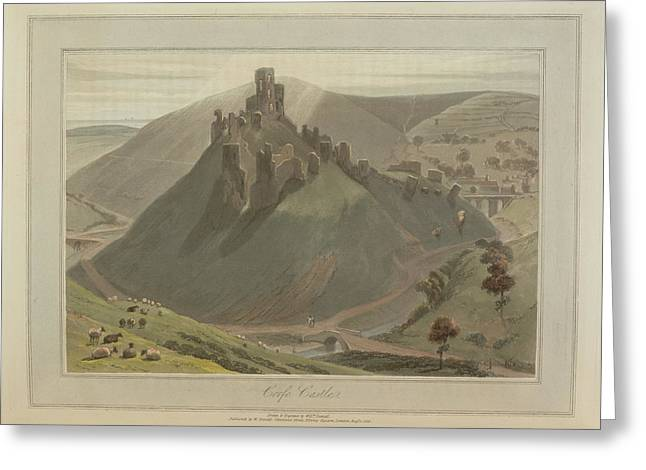 Corfe Castle Greeting Card by British Library