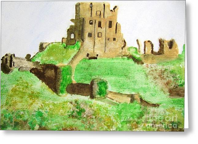 Corfe Castle Greeting Card