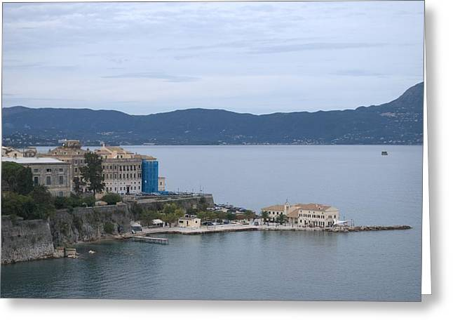 Corfu City 4 Greeting Card by George Katechis