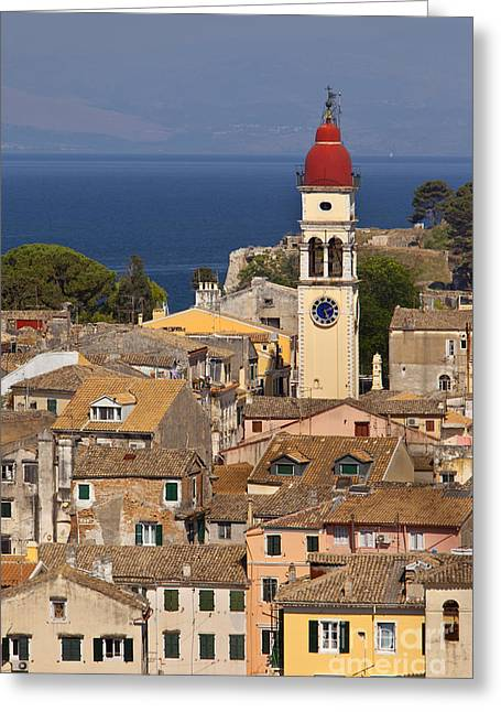 Corfu Town Greece Greeting Card by Brian Jannsen