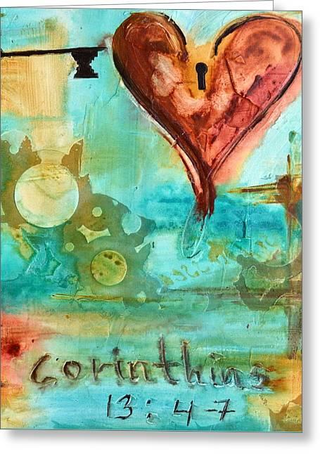 1 Corinthians 13 Greeting Card by Ivan Guaderrama