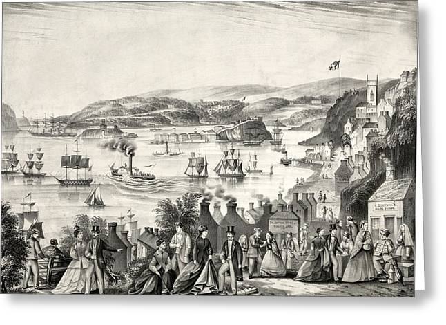 Cork Harbour, 1872 Greeting Card