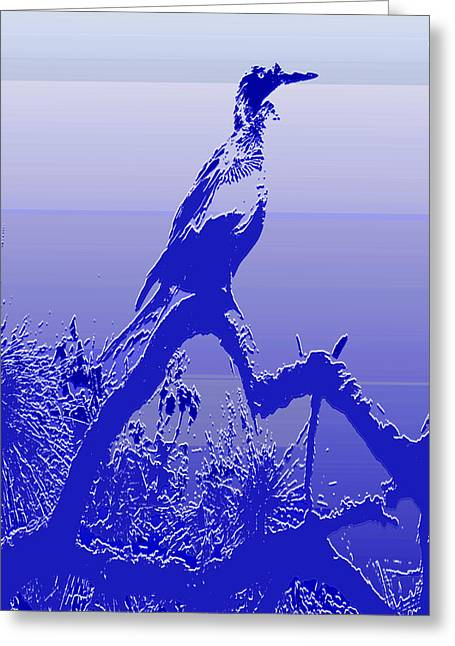 Cormorant Dk. Blue Case Greeting Card
