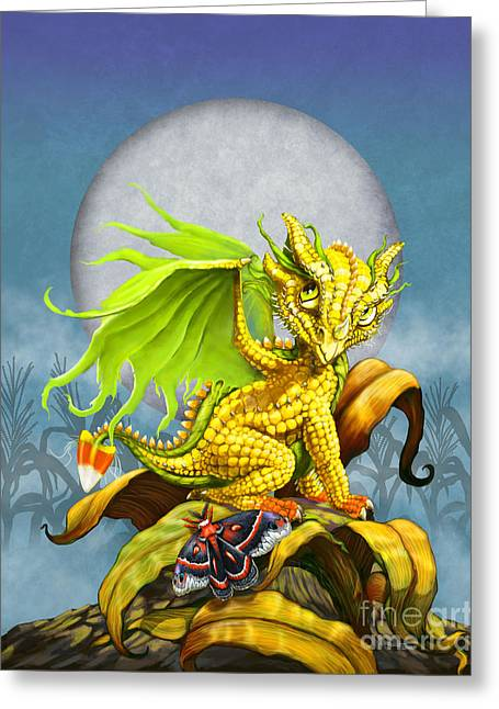 Corn Dragon Greeting Card