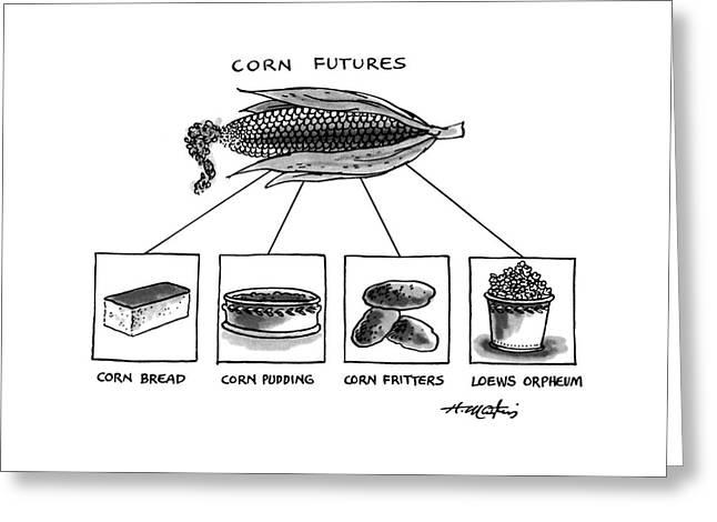 Corn Furures Greeting Card