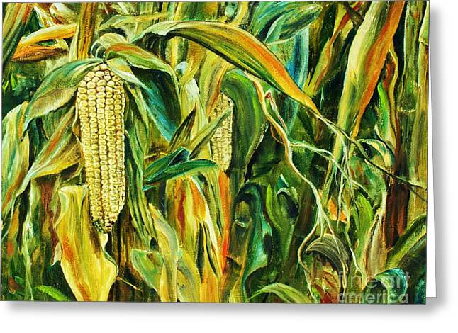 Spirit Of The Corn Greeting Card by Anna-maria Dickinson