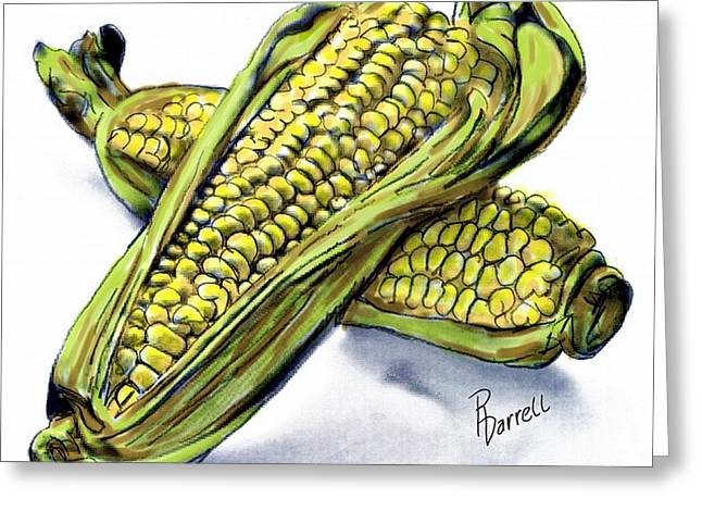Corn Study Greeting Card