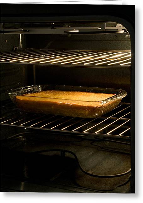 Cornbread Or Cake In Oven Greeting Card by Celso Diniz
