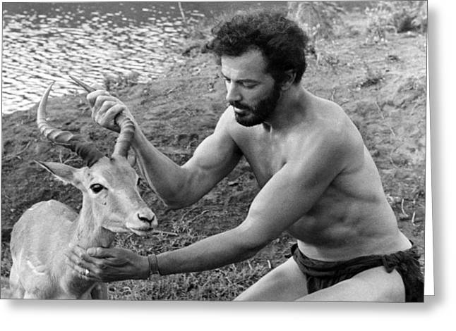 Cornel Wilde In The Naked Prey  Greeting Card by Silver Screen