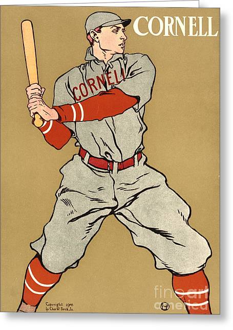 Cornell Baseball 1908 Greeting Card by Padre Art