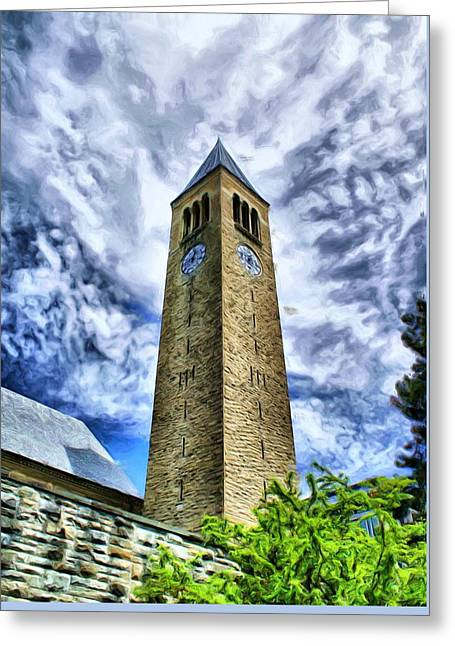 Cornell Clock Tower  Greeting Card