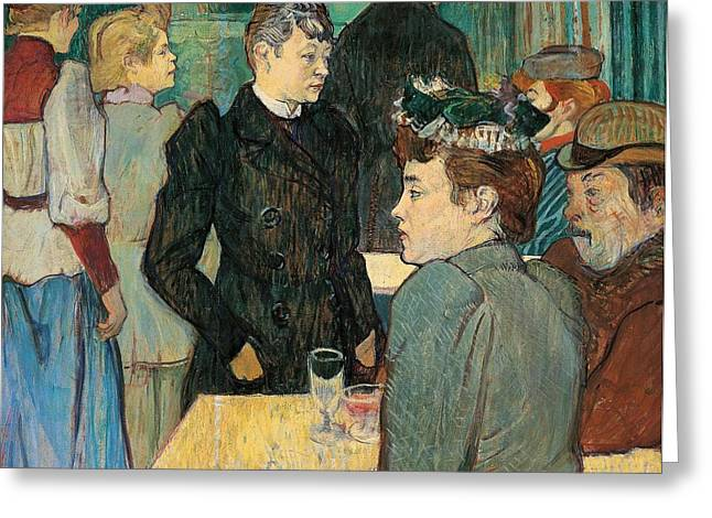Corner Of Moulin De La Galette Greeting Card by Henri de Toulouse Lautrec