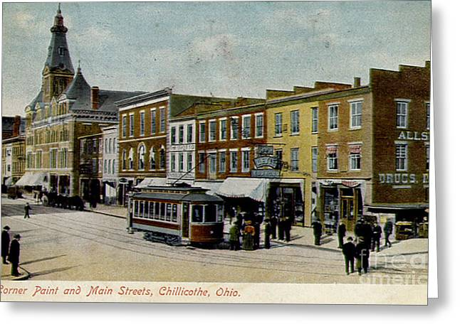 Corner Of Paint And Main - Chillicothe Ohio Greeting Card