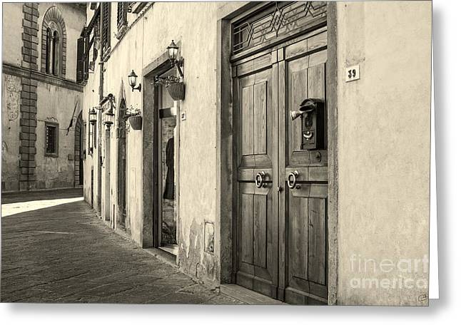 Corner Of Volterra Greeting Card
