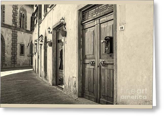 Corner Of Volterra Greeting Card