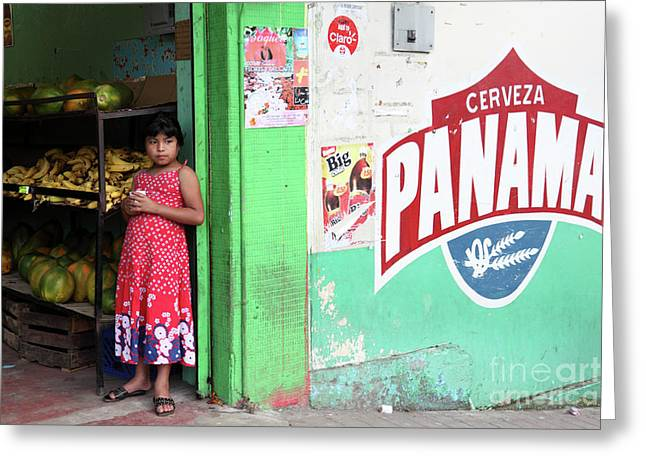 Corner Shop Panama Greeting Card by James Brunker