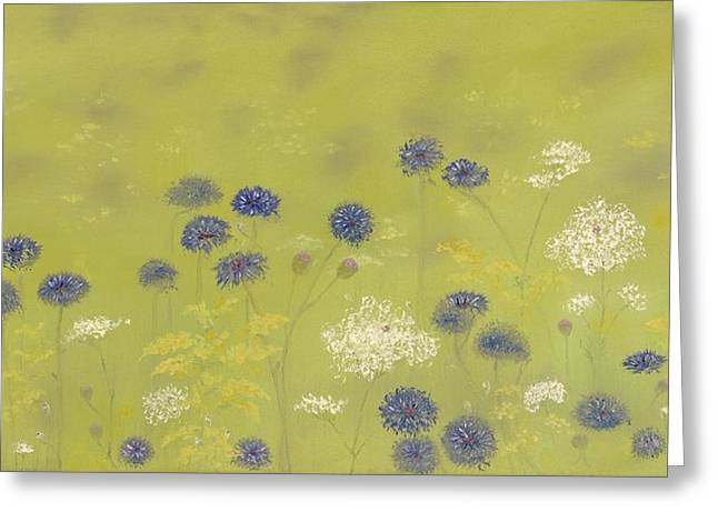Cornflowers And Queen Anne's Lace Greeting Card