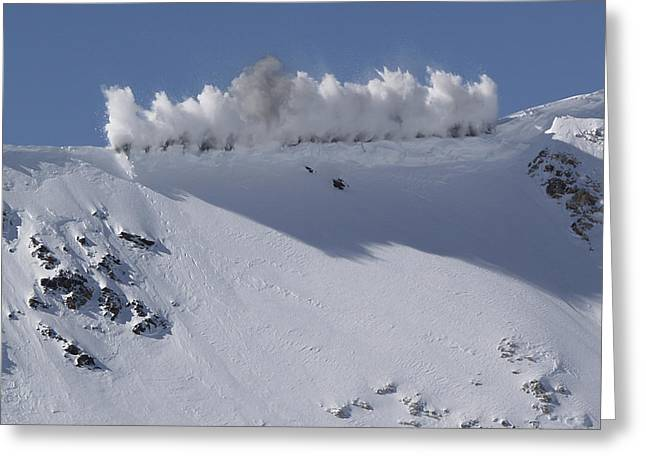 Cornice Blast Greeting Card by Bill Gallagher