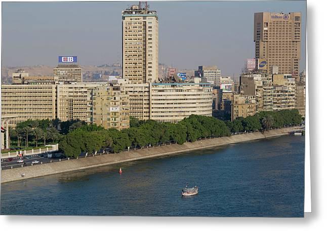 Corniche El Nil, Nile River, Cairo Greeting Card