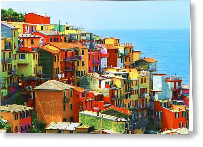 Corniglia Cinque Terre Greeting Card