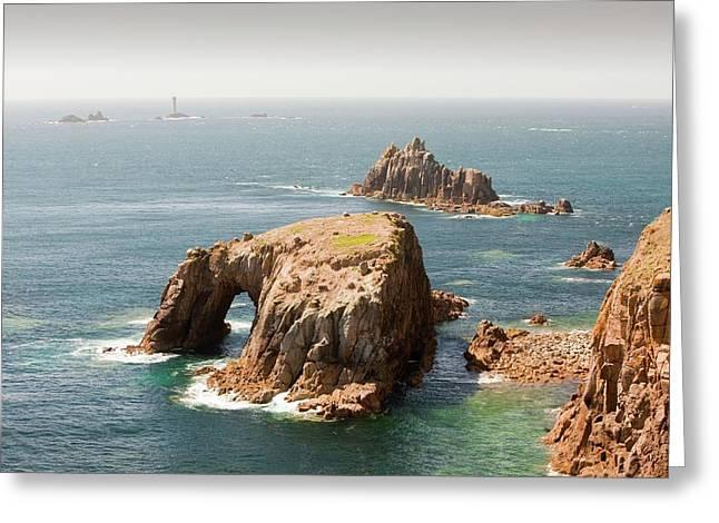 Cornish Coastal Scenery At Lands End Greeting Card