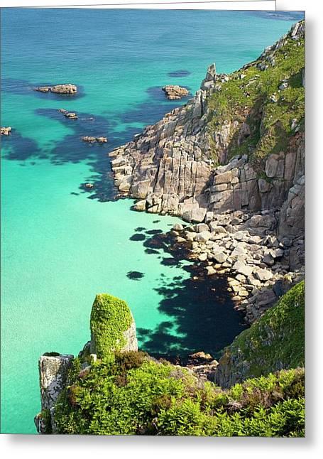 Cornish Coastal Scenery Near Pendeen Greeting Card