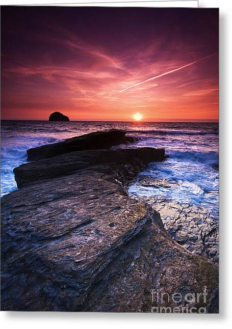 Cornish Sunset Greeting Card