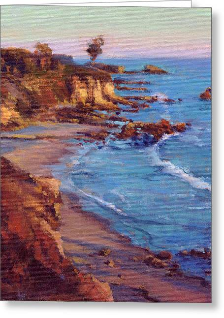 Greeting Card featuring the painting Corona Del Mar by Konnie Kim