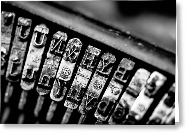 Corona Four Typewriter Detail Greeting Card by Jon Woodhams