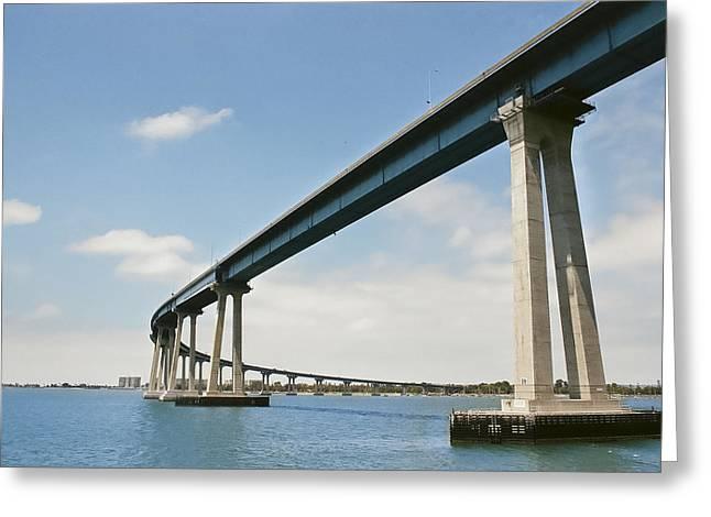 Coronado Bridge Greeting Card by Andrew Kasten