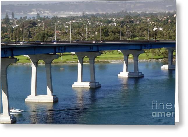 Coronado Bridge Greeting Card by Gregory Dyer