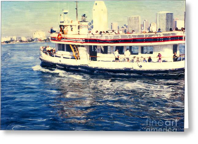 Coronado Ferry - Horz. Greeting Card