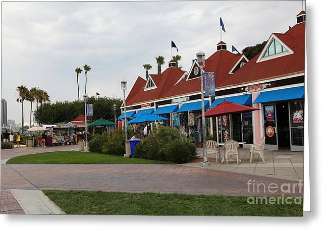 Coronado Ferry Landing Marketplace In Coronado California 5d24332 Greeting Card by Wingsdomain Art and Photography