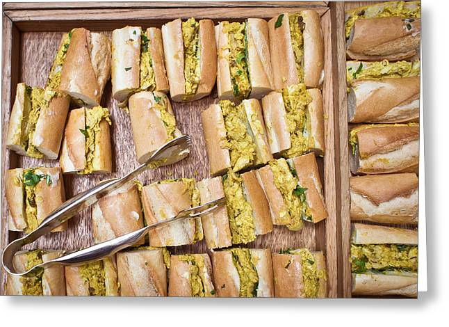 Coronation Chicken Baguettes Greeting Card by Tom Gowanlock