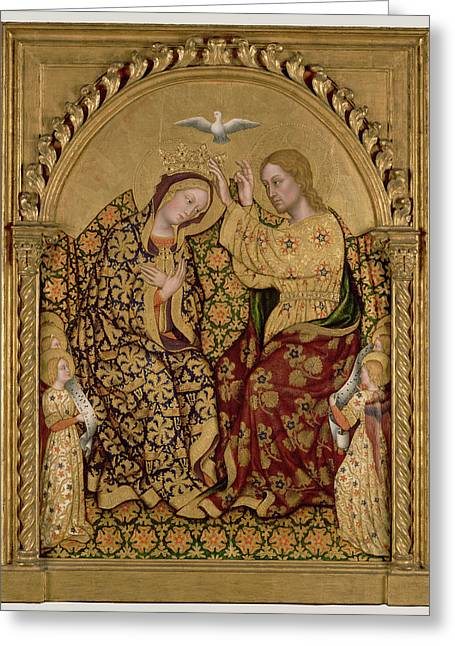 Coronation Of The Virgin Gentile Da Fabriano Greeting Card by Litz Collection