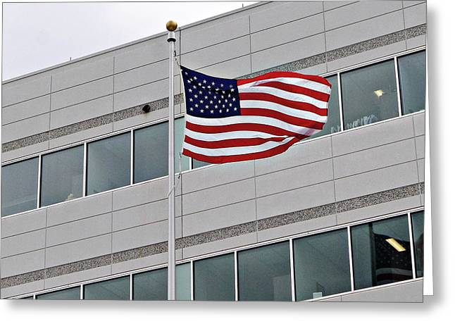 Corporate Americans Greeting Card by Richard Reeve