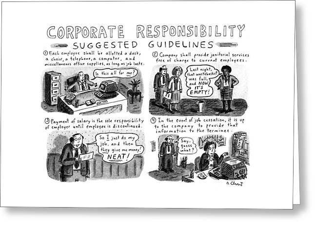 Corporate Responsibility Suggested Guidelines Greeting Card