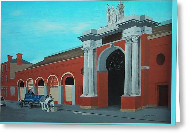Corporation Fruit Market Dublin Greeting Card by Tony Gunning