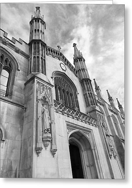 Corpus Christi College Cambridge Entrance Greeting Card by Gill Billington