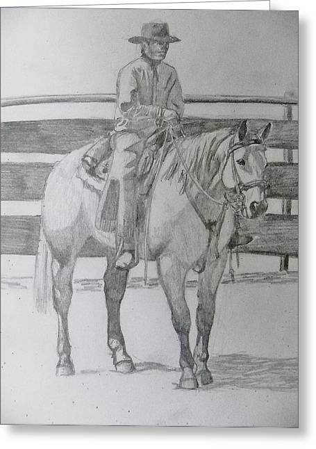 Corral Boss Greeting Card by Sarah Hardin