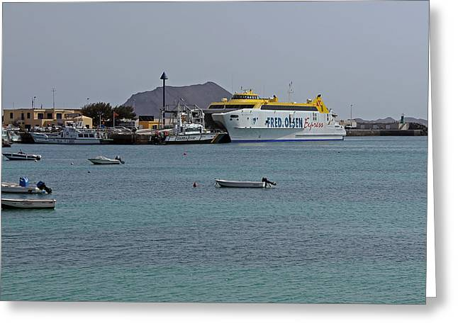 Corralejo Harbour Greeting Card
