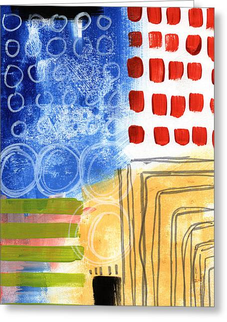 Corridor- Colorful Contemporary Abstract Painting Greeting Card by Linda Woods